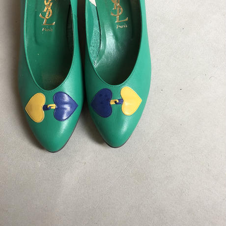 Old YVES SAINT LAURENT Heart Motif Pumps
