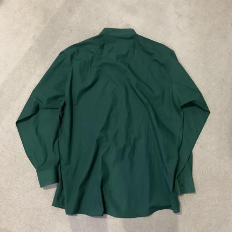 90s  dress stand collar shirt GRN