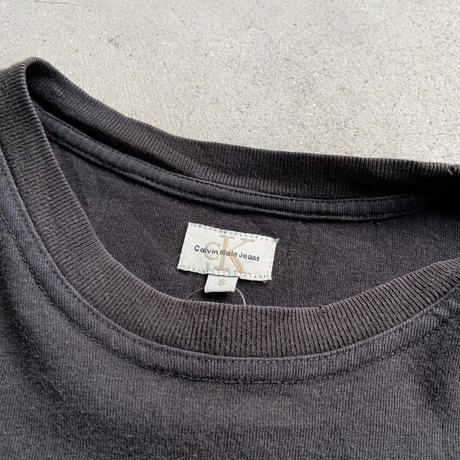 90s Calvin klein logo tee S/S BLK
