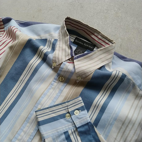 90s BANANA REPUBLIC Stripe L/S Shirt