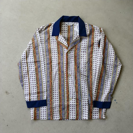 70s TOWNCRAFT Pajama L/S Stripe Shirt