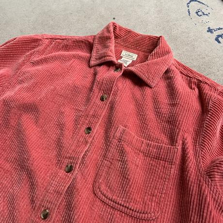 80s l.l.bean cords shirt PNK
