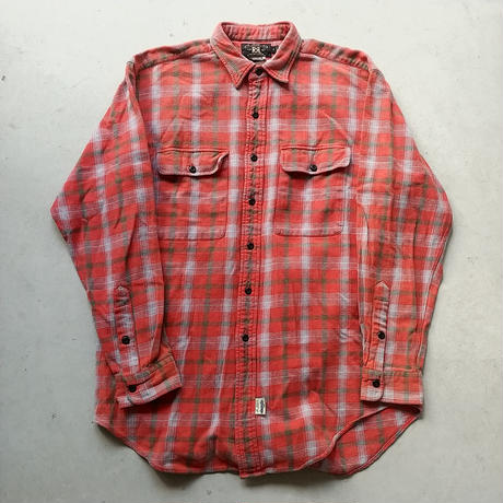 90s RЯL Check Flannel Shirt RED