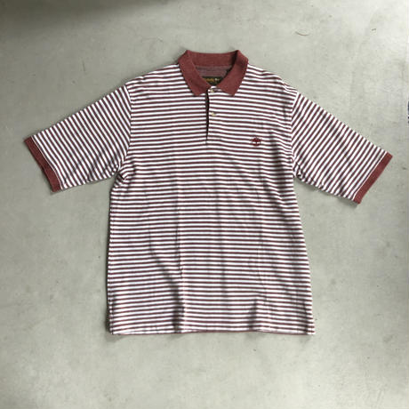 90s Timberland Border S/S Polo Shirt