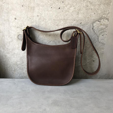 Old Coach Grab Leather Shoulder Bag