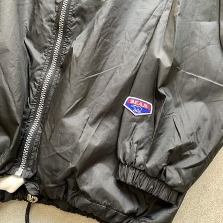 90s bear nylon jacket BLK