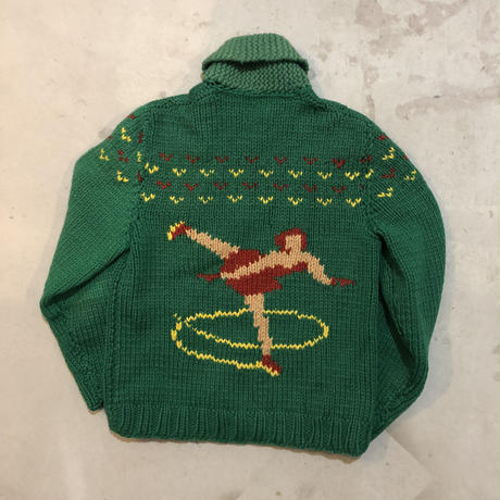 50s cowichan sweater ice skate