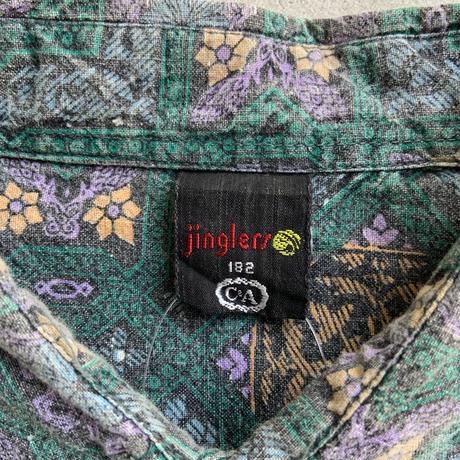 90s tile pattern shirt GRN