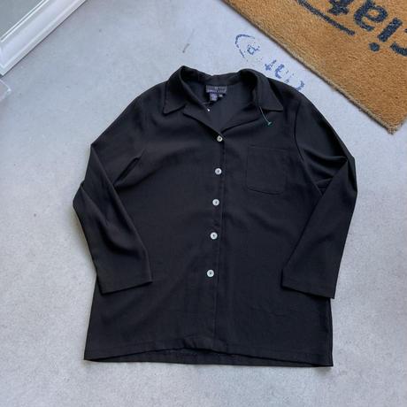 carole little open color shirt BLK