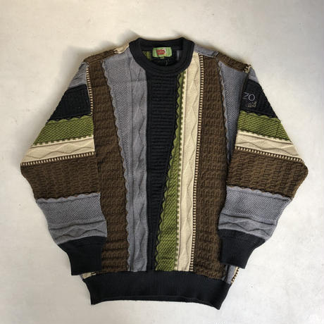 Old KENZO Crazy Pattern Knit Pullover