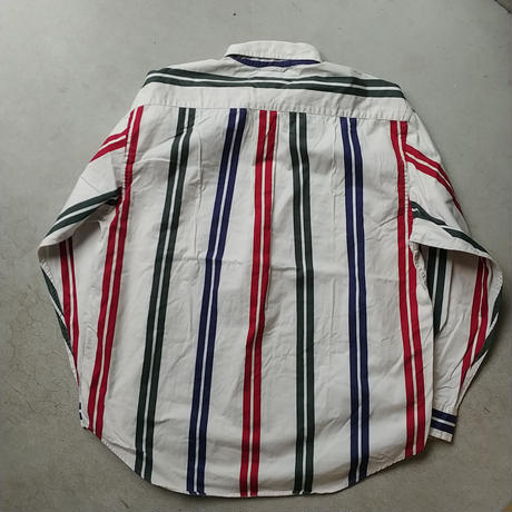 90s TOMMY HILFIGER stripe L/S Shirt