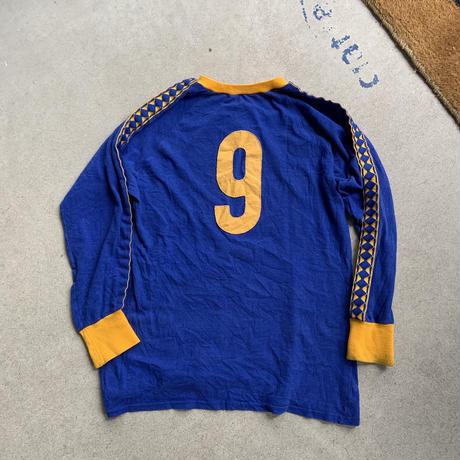 60s vintage euro soccer tee  BLU