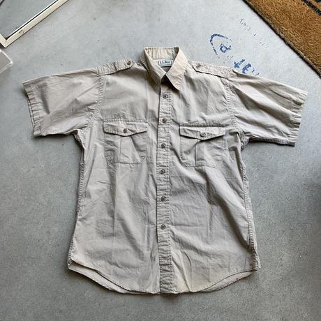 80s l.l.bean military design shirt BEG