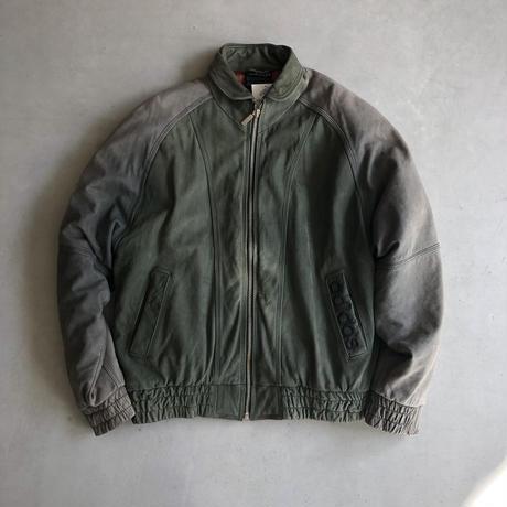 90s adidas Big Logo Leather Blouson