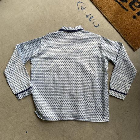 80s euro satin pajamas shirt BLU