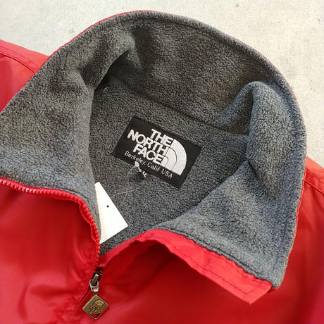 90s~ THE NORTH FACE Fleece Liner Nylon Jacket RED