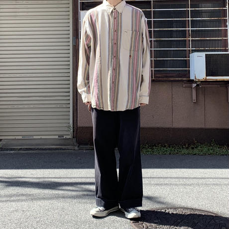 90s tommy strp shirt BRW