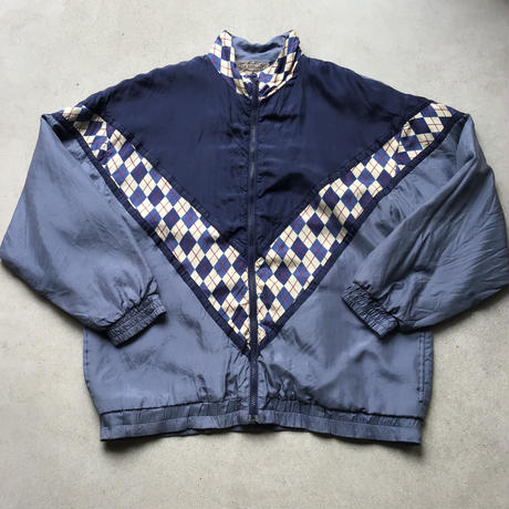 90s~ SILK EXCHANGE Nylon Jacket NVY