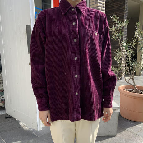 90s~ FADED GLORY Corduroy Shirt PPL