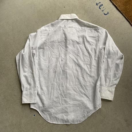 70s~ town craft design shirt WHT