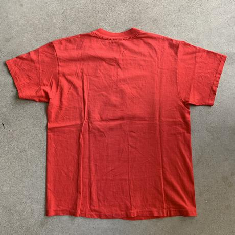 90s~ Campion Bulls print tee  RED