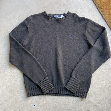 polo ralph lauren cotton knit  BLK
