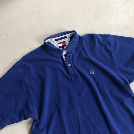 90s TOMMY HILFIGER S/S Polo Shirt NVY