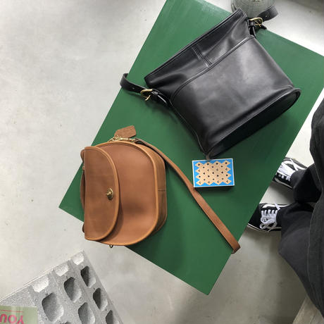 Old COACH Grab Leather 2WAY Bag