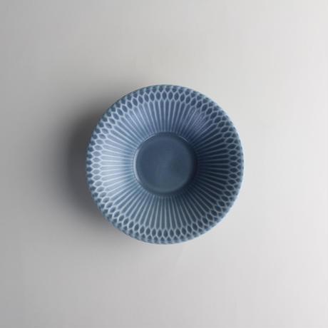 さざなみ 11.5反小鉢 ブルーグレー 599-M43303 寸法:φ11.5×3.3H㎝ 100g