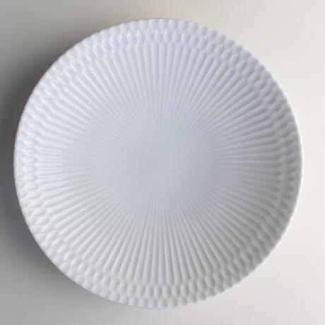 さざなみ 21深皿 白 599-M43101 寸法:φ21.0×4.0H㎝ 400g