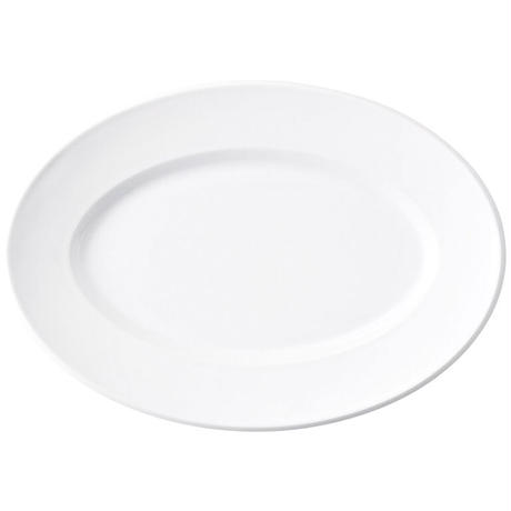 スパダ ピュアホワイト 31.5cmプラター    寸法:31.5×22.2×3.3H㎝