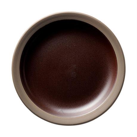 ハーベスト カカオブラウン 21.5cmデザート皿    寸法:21.5φ×3H㎝