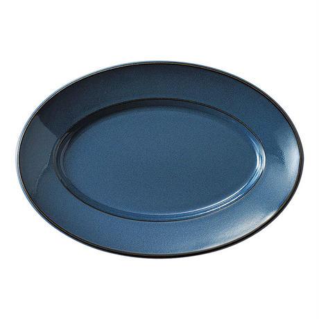 スパダ スカンジナビアンブルー 27.5cmプラター    寸法:27.5×19×2.9H㎝