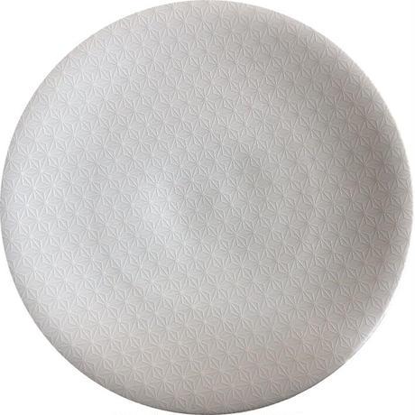 サーフェス27cmディナー(麻格子)    501-257AA402  寸法:D27.8×H2.2(cm)