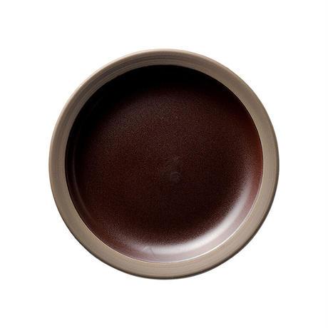 ハーベスト カカオブラウン 17.5cmパン皿    寸法:17.5φ×2.5H㎝