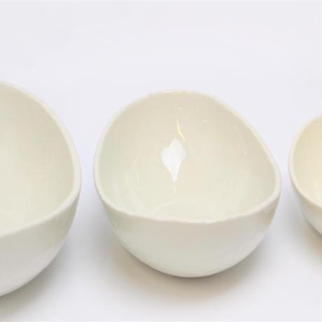 アイボリ-(楕円)8.0鉢    く09-098-10 寸法:24.5×15×8.5H㎝ 620g