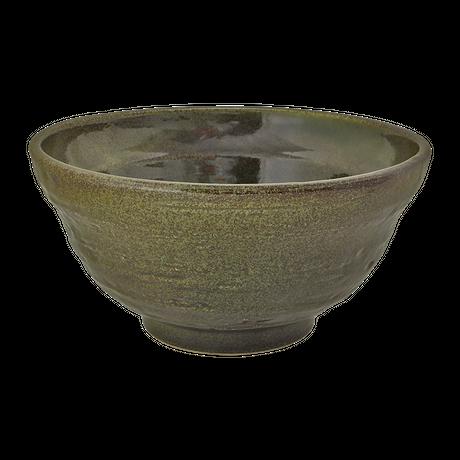 深緑 5.5段付丼(中)    く09-102-25 寸法:16.5φ×8.5H㎝ 600g