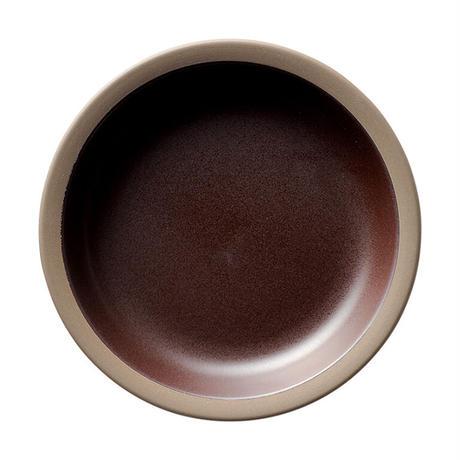 ハーベスト カカオブラウン 22cmカレースパゲティボウル    寸法:22.4φ×3.7H㎝