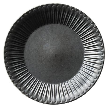 ストーリア クリスタルブラック 27cmプレート    496-16731003 寸法:27φ×3H㎝