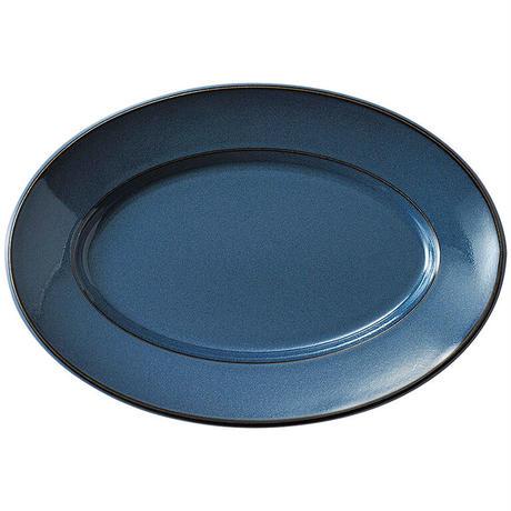 スパダ スカンジナビアンブルー 31.5cmプラター    寸法:31.5×21.9×3.3H㎝