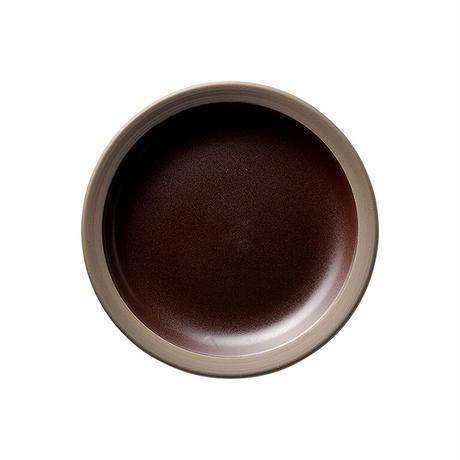 ハーベスト カカオブラウン 15.5cmパン皿    寸法:15.7φ×2.4H㎝