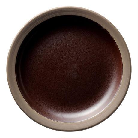 ハーベスト カカオブラウン 24cmミート皿    寸法:24φ×3.3H㎝