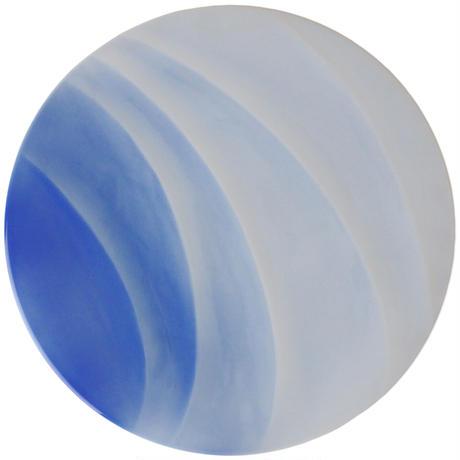 サーフェスWIND27cmディナー(ブルー吹き)    501-09020402  寸法:D27.6×H1.8(cm)