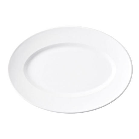 スパダ ピュアホワイト 27.5cmプラター    寸法:27.5×19×2.9H㎝