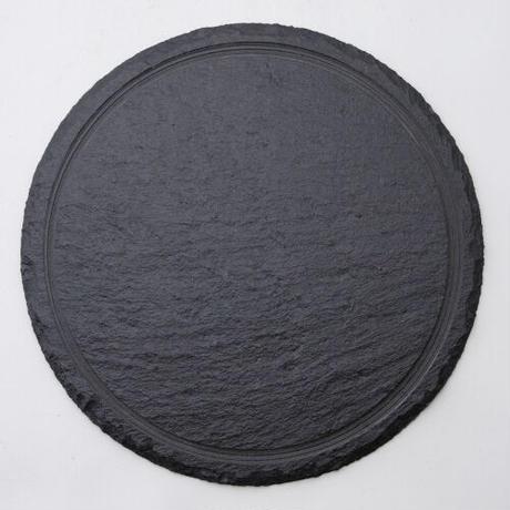 28cmラウンドスレートプレート    496-R5000002 寸法:28φ×1.1H㎝