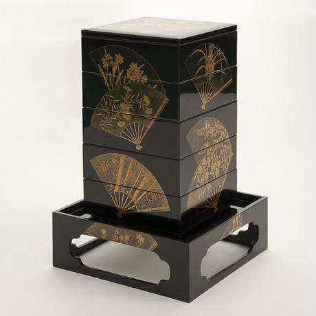 重箱 扇面 Layered Boxes with fan pattern
