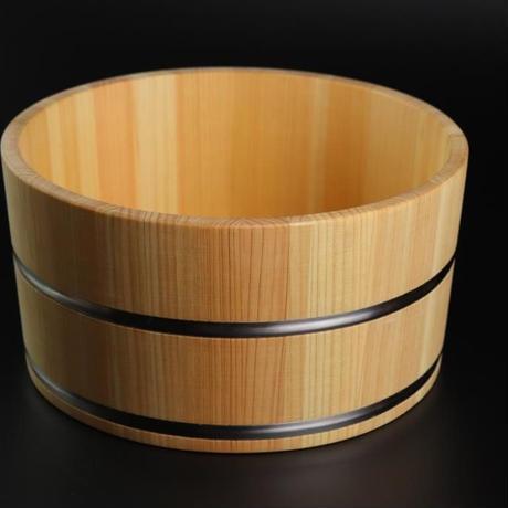 檜の湯桶(ステンレスタガ))