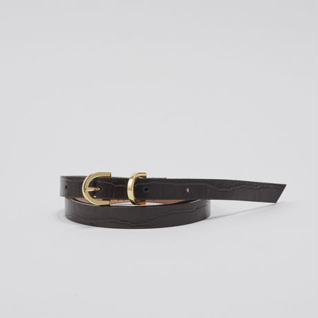 tov Croco Leather Belt(D.Brown)