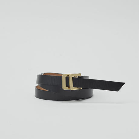 tov W Buckle Leather Belt(Black)