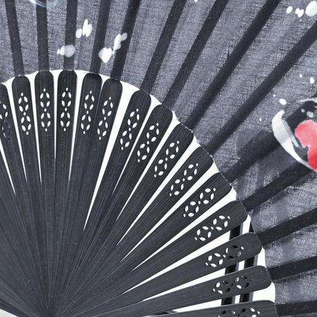 錦鯉扇子(黒)